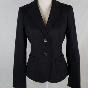 Banana Republic Fitted Suit Blazer Jecket Blk EUC